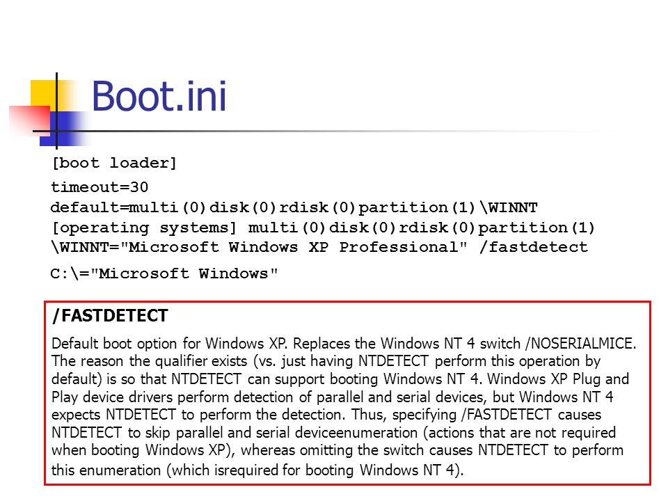 Boot.ini [boot loader]